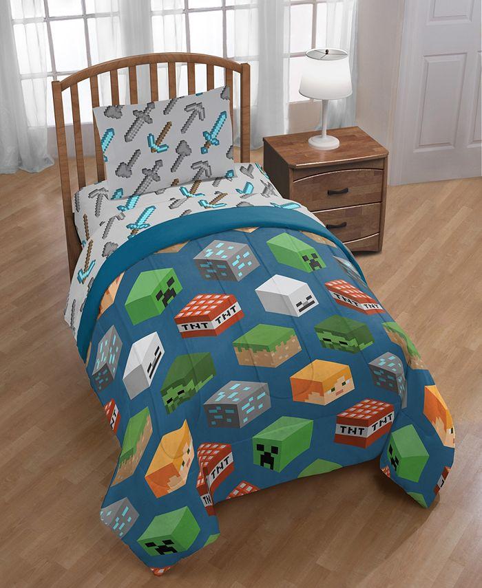 Minecraft - 4-Piece Twin Comforter Set