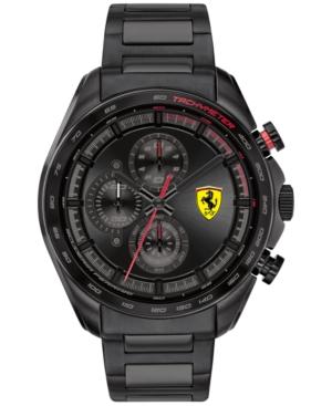 Men's Chronograph Speedracer Black Pvd Stainless Steel Bracelet Watch 44mm