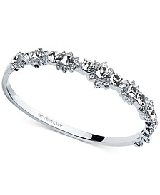 Crystal Flower Bangle Bracelet