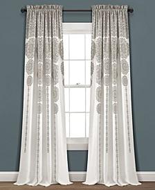 "Medallion Stripe 52"" x 95"" Curtain Set"