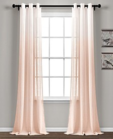 "Ombre Stripe 38"" x 84"" Sheer Curtain Set"