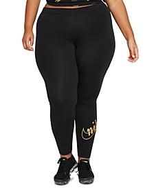 Plus Size Glitter-Logo Leggings