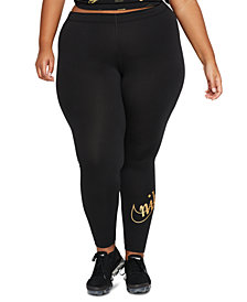 Nike Plus Size Glitter-Logo Leggings