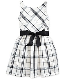 Little Girl's Plaid Taffeta Dress