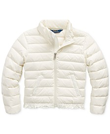 Toddler Girl's Ruffled Quilted Down Jacket