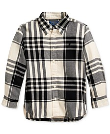 Toddler Girl's Plaid Cotton Twill Tunic