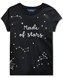 Big Girls Star-Print Cotton Jersey T-Shirt