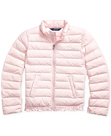 Big Girl's Ruffled Quilted Down Jacket