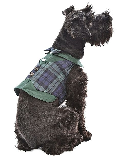 Parisian Pet Scottish Plaid Dog Tuxedo