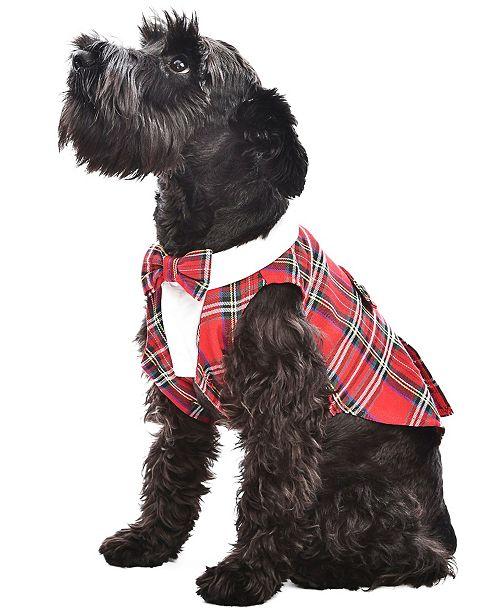 Parisian Pet Tartan Dog Tuxedo