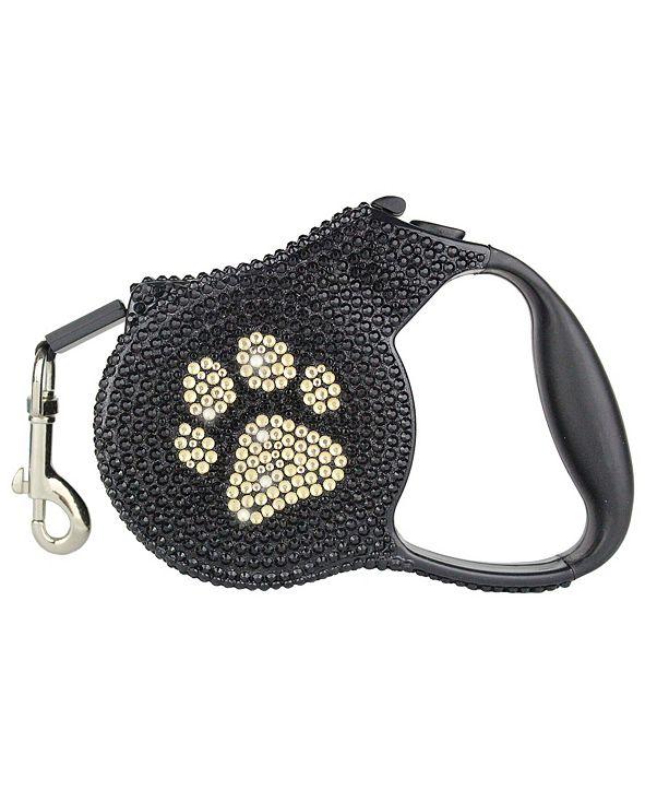 Parisian Pet Crystal Paw Retractable Dog Leash