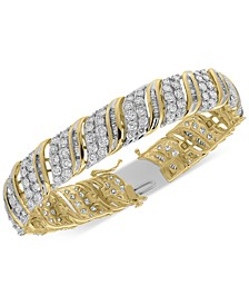 Diamond Bangle Statement Bracelet (10 ct. t.w.) in 10k Gold