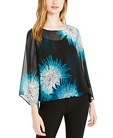 Petite Bubble Sleeve Blouse, Created for Macy's