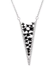 "Diamond Scatter Chevron 18"" Pendant Necklace (1-1/2 ct. t.w.) in 14k White Gold"