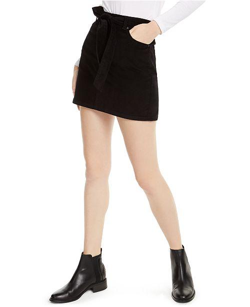 Vanilla Star Juniors' Belted Corduroy Skirt