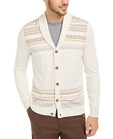 Men's Geo-Stripe Intarsia-Knit Cardigan, Created For Macy's