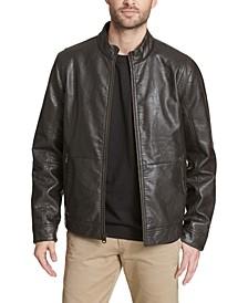 Men's Vintage Faux Leather Fashion Racer Jacket