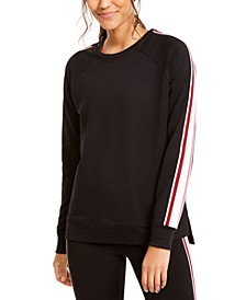 Varsity-Stripe French Terry Sweatshirt, Created for Macy's