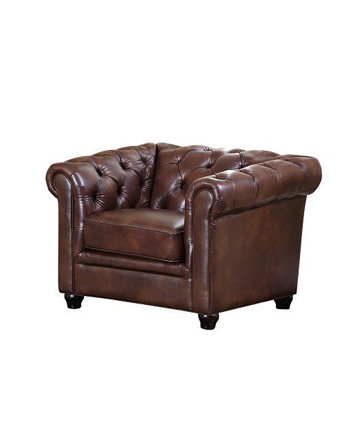 Abbyson Living Zoe Leather Arm Chair