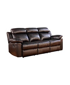 "Kamryn 85"" Leather Recliner Sofa"
