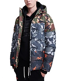 Men's Camo Mix Puffer Jacket
