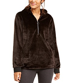 Faux-Fur Quarter-Zip Hoodie, Created for Macy's