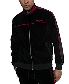 Men's Velour Track Jacket