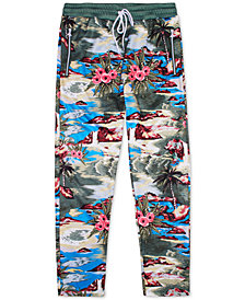 LRG Men's Hiloha Tropical Pattern Track Pants