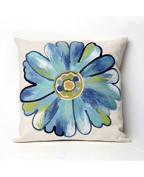 "Liora Manne Visions III Daisy Indoor, Outdoor Pillow - 20"" Square"