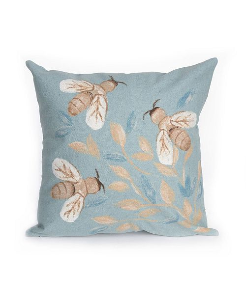 "Liora Manne Visions III Bees Indoor, Outdoor Pillow - 20"" Square"