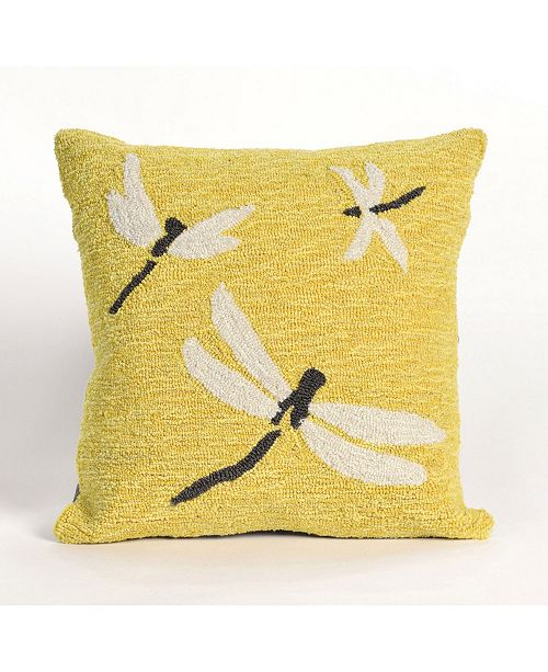 "Liora Manne Frontporch Dragonfly Indoor, Outdoor Pillow - 18"" Square"
