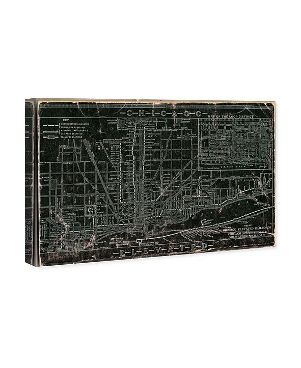 "Oliver Gal Chicago Railroad Canvas Art, 15"" x 10"""
