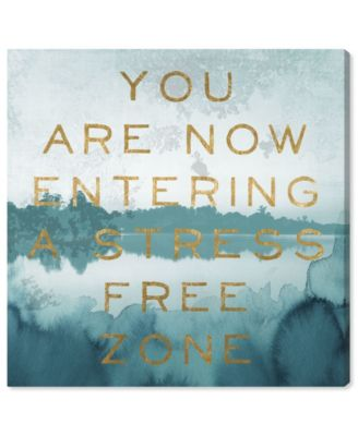 Stress Free Zone Canvas Art, 36