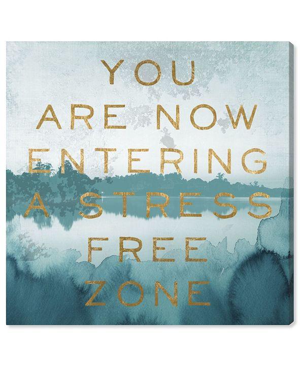 "Oliver Gal Stress Free Zone Canvas Art, 16"" x 16"""