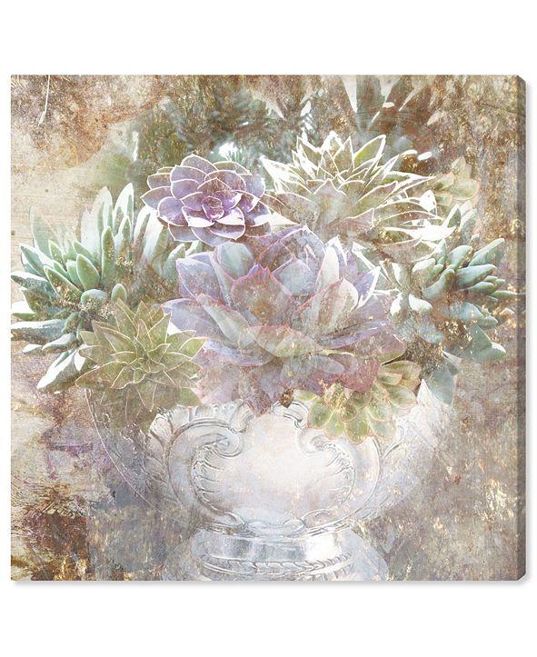 "Oliver Gal Serving Succulents Canvas Art, 12"" x 12"""