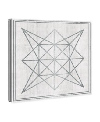 Whitewash Wood Geometric Star Canvas Art, 43
