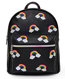 Embroidered Rainbow Mini Backpack