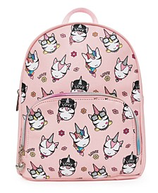 Trendy Unicorns Printed Mini Backpack