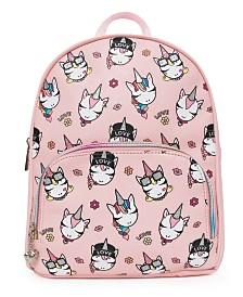 OMG! Accessories Trendy Unicorns Printed Mini Backpack