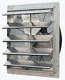 "20"" Variable Speed Shutter Exhaust Fan, Wall-Mounted"