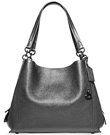 Metallic Leather Dalton 31 Shoulder Bag