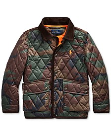 Little Boy's Quilted Car Coat