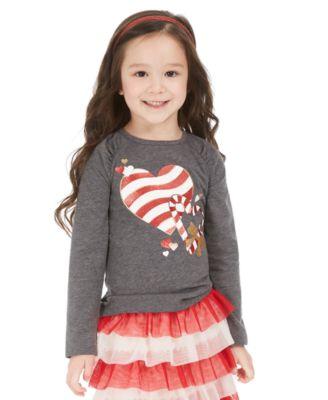 Little Girls Candy Heart T-Shirt, Created For Macy's