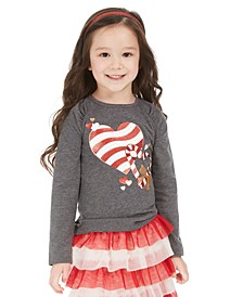Little Girls Candy Heart T-Shirt, Created For Macy's