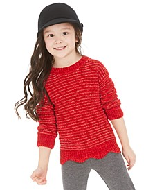 Toddler Girls Chenille Scalloped Sweater, Created For Macy's