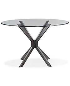 "Deen 54"" Glass Top Round Dining Table"