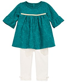 Baby Girls 2-Pc. Lace Tunic & Ruffle Leggings Set, Created for Macy's