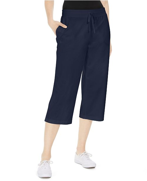 Karen Scott Knit Capri Pants, Created for Macy's
