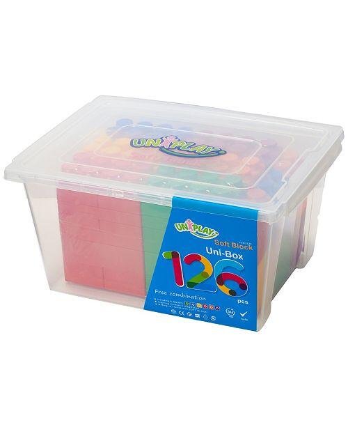 UNiPLAY Tensquare  Unibox 126 Piece Set, 18 Plump Pieces and 108 Basic Pieces