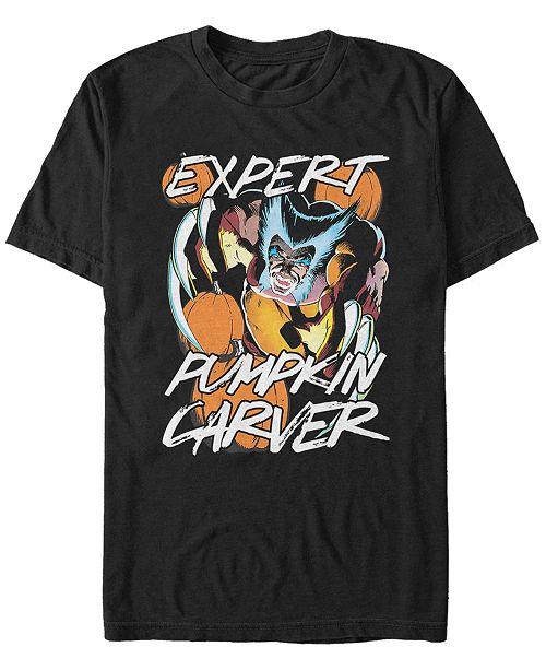Fifth Sun Marvel Men's Wolverine Expert Pumpkin Carver Halloween Short Sleeve T-Shirt